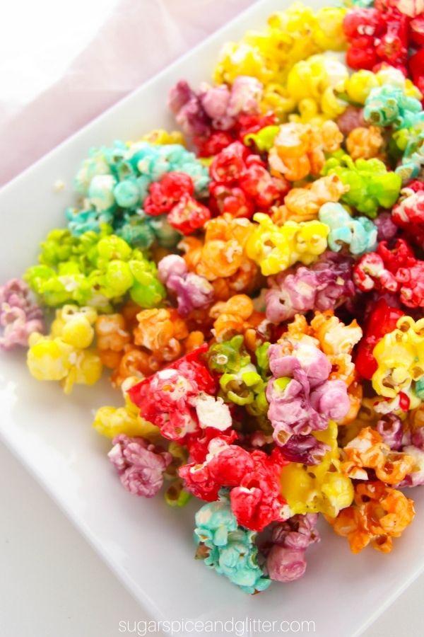 Jello Rainbow Popcorn