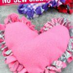 No-Sew Heart Pillow Craft for Kids