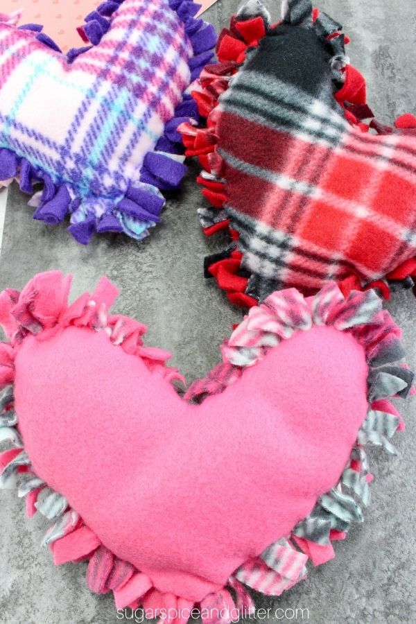No-Sew Heart Pillow Craft for Kids