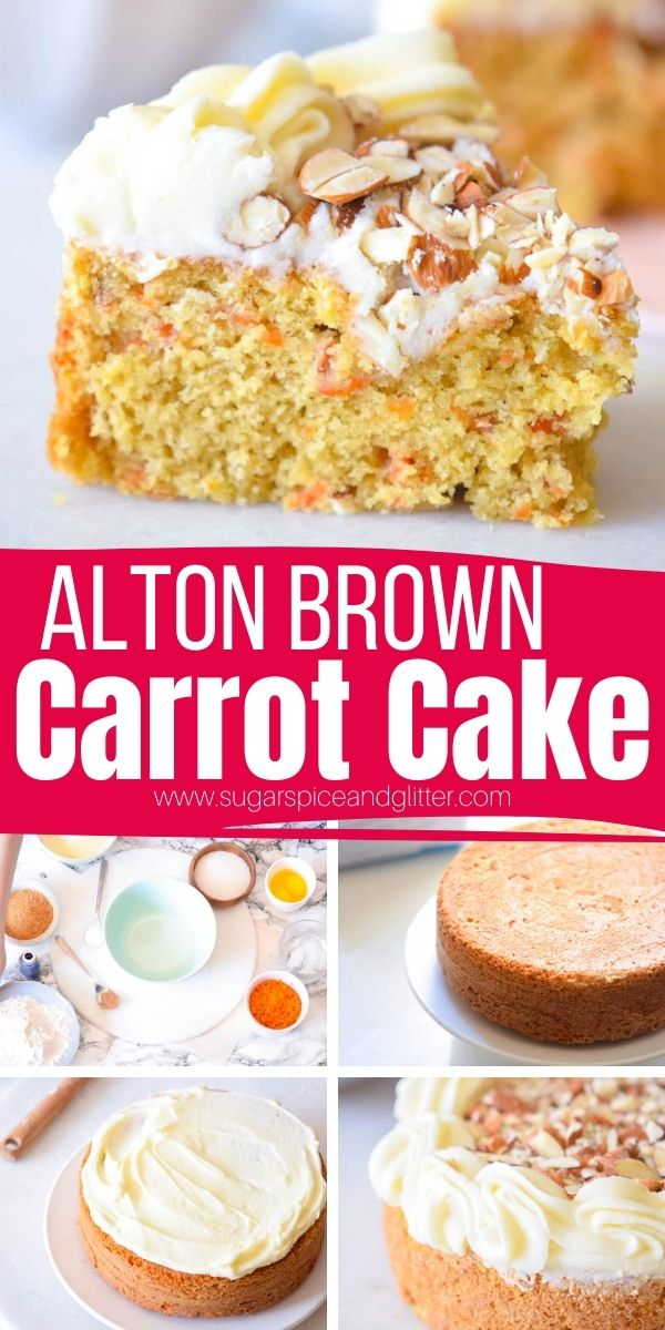 A step-by-step guide to making Alton Brown's Classic Carrot Cake. This cake is super simple but has a couple important tweaks that results in a tender, fluffy cake the whole family will love. Top with our velvety smooth, sweet and tangy cream cheese frosting and crushed almonds