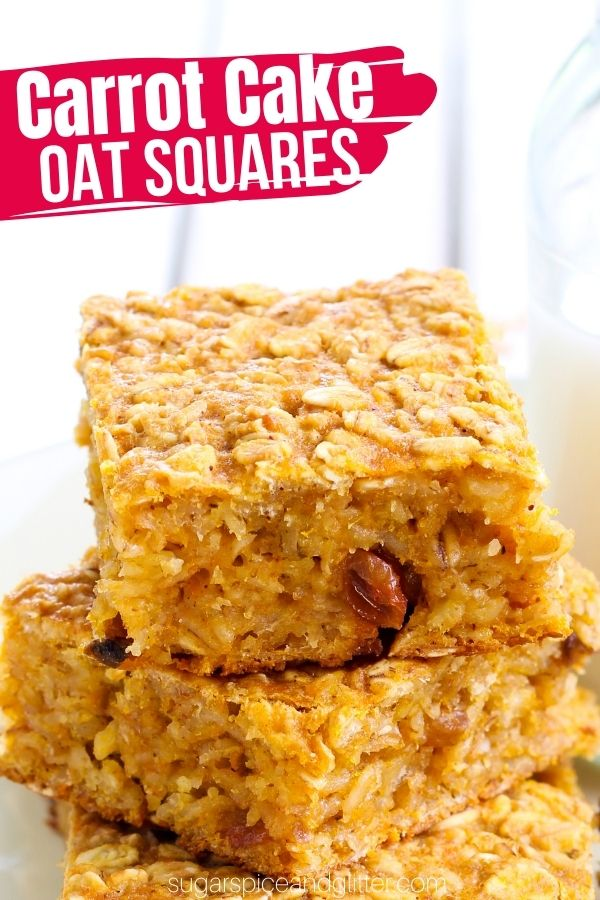 Delightfully chewy and crunchy oat squares with hidden carrots for a nutrition boost. These bars are naturally sweetened with honey and shredded coconut and you can add whatever flavorful mix-ins you like: raisins, pecans, white chocolate chips, etc.