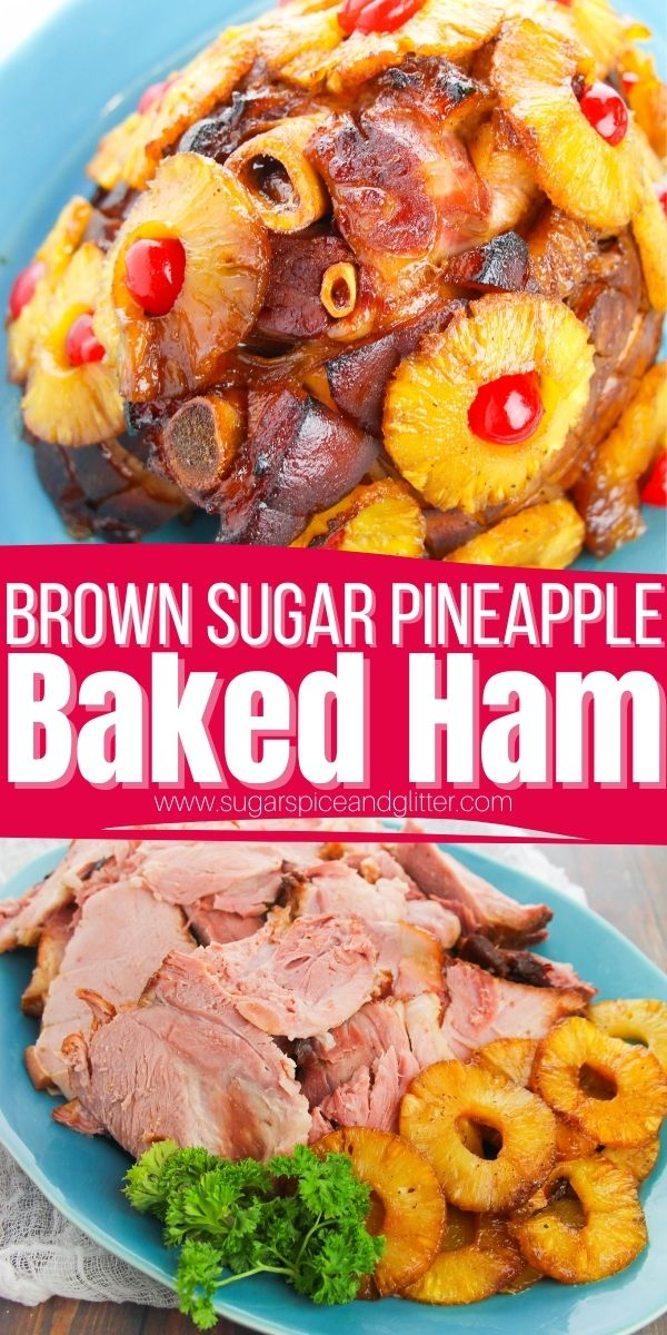 How to Make a Show-Stopping & Succulent Pineapple Brown Sugar Ham in the oven using everyday kitchen ingredients. This retro bone-in baked ham recipe is a classic for a reason, delivering juicy, flavorful ham the whole family will love - and perfect for leftovers.
