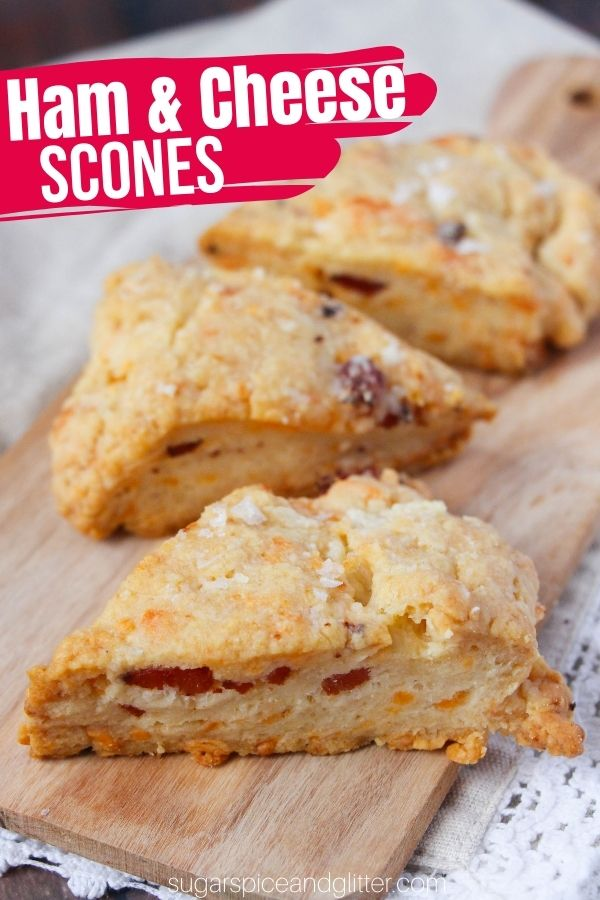 A delicious savory scones recipe made with leftover ham, these ham and cheese scones make a delicious breakfast option or side dish with soup or salad.