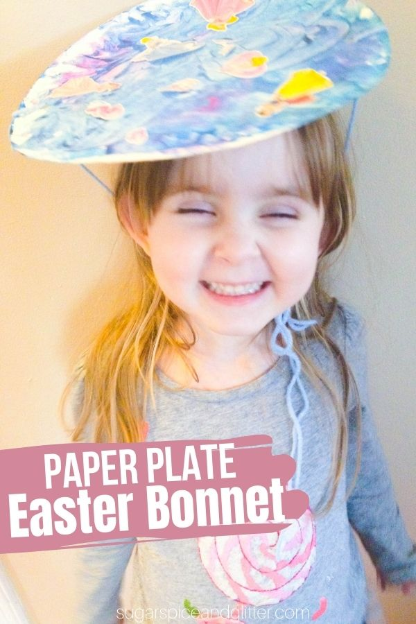A super simple Easter craft for kids, these Paper Plate Easter Bonnets can be as simple or as ornate as your kids want. Provide a variety of craft odds and ends to allow them to be as creative as they desire.