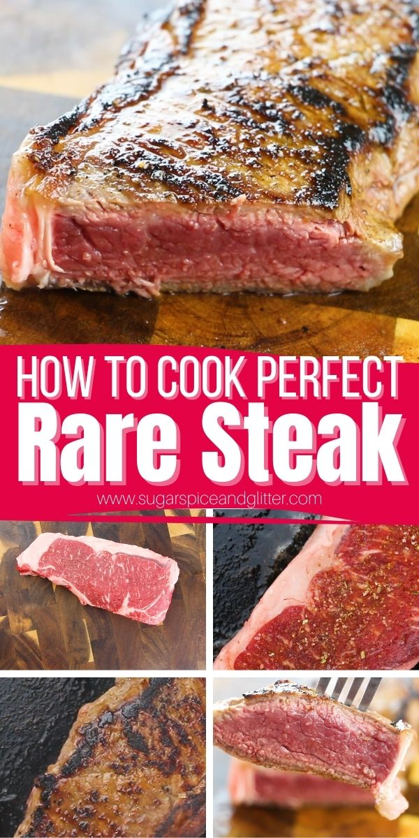 Just the right amount of smoky sear while staying juicy and chewy on the inside, this is your step-by-step guide to the perfect rare steak
