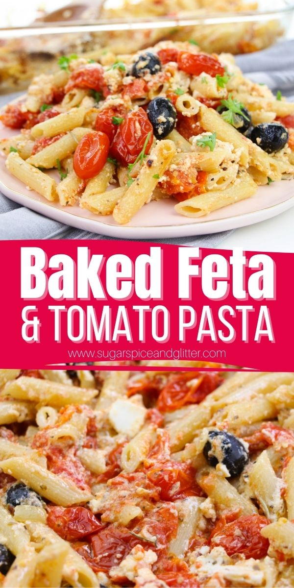 How to make baked feta and tomato pasta - the viral tiktok pasta recipe that everyone's talking about! This super simple recipe results in creamy, flavorful pasta perfect for entertaining