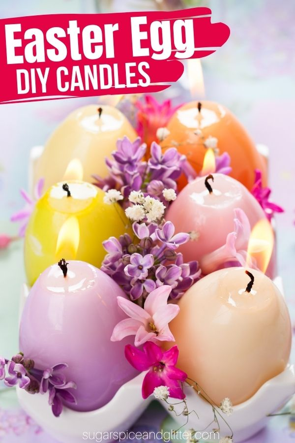 A super simple method for making soy Easter Egg Candles to add some ambience to your Easter decor. Customize the colors and scents to your personal preferences.