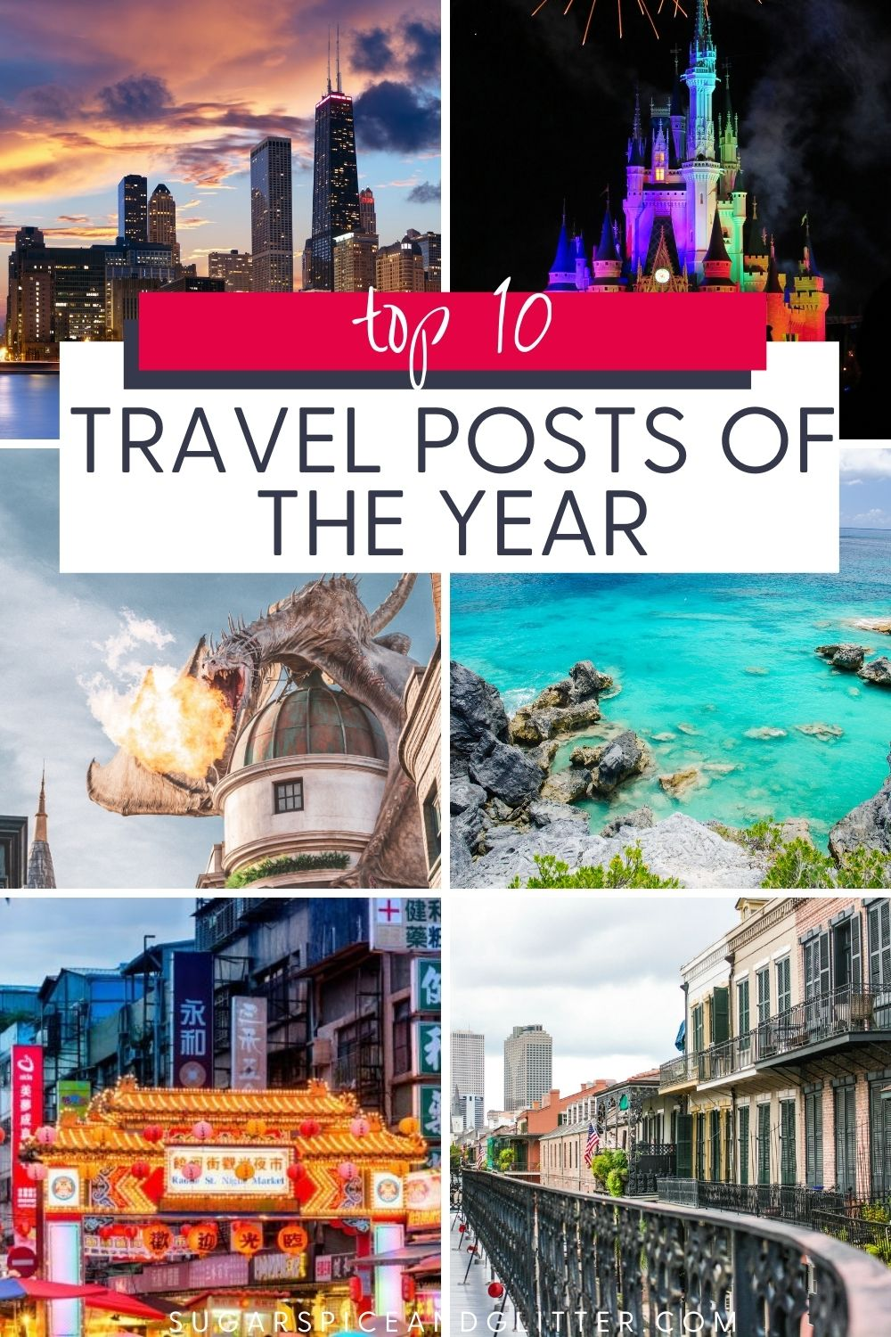The Top 10 Travel Posts of the Year from Sugar, Spice and Glitter. From theme parks to family road trips, taking us to the other side of the globe and back, these are our readers' favorite travel posts for the year.