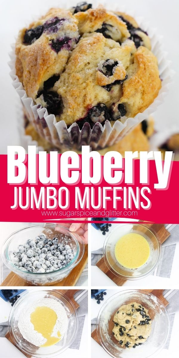 How to make the best ever jumbo blueberry muffins with just a hint of lemon zest. These tender muffins combine maple syrup and white sugar for a balanced sweetness