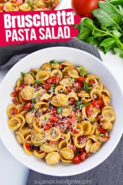 Bruschetta Pasta Salad (with Video)