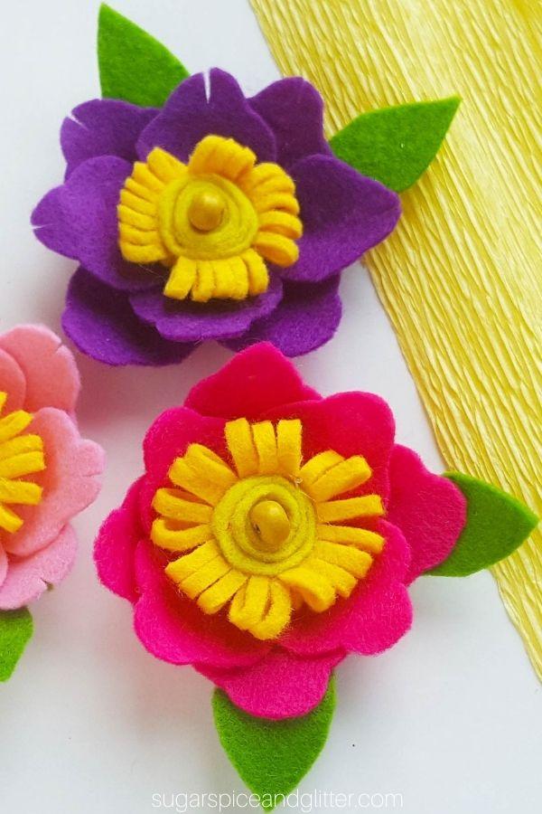 No-Sew Felt Flowers