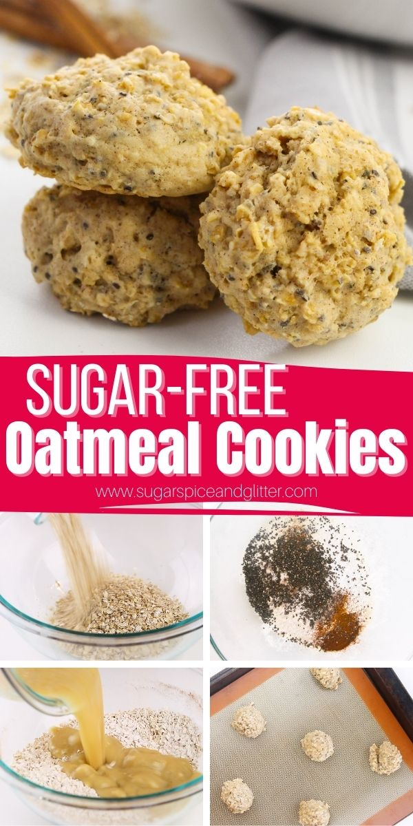 How to make the BEST EVER Healthy Oatmeal Cookies. These chewy, sweet oatmeal cookies contain no added sugar - every ingredient is healthy and provides a bevy of health benefits. Kids LOVE these cookies and you will love getting to say yes to their frequent requests for these healthy cookies