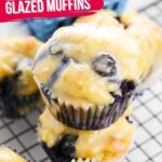 Glazed Blueberry Muffins (with Video)