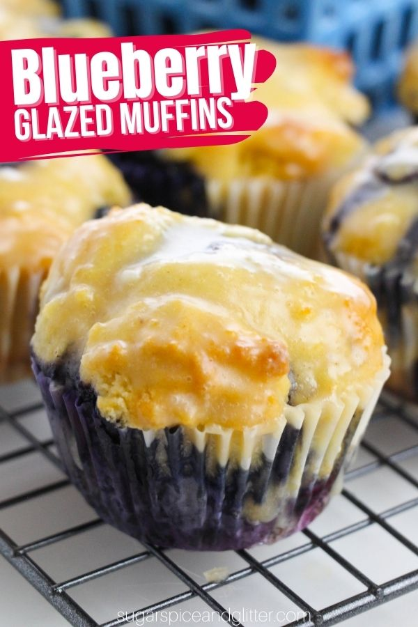 Tender, light and fluffy Blueberry muffins with a chewy, golden exterior and bright pops of blueberry and lemon flavor topped off with a crunchy and sweet lemon glaze. The buttermilk adds a slight tang that plays off the tartness of the lemon and sweetness of the berries perfectly.