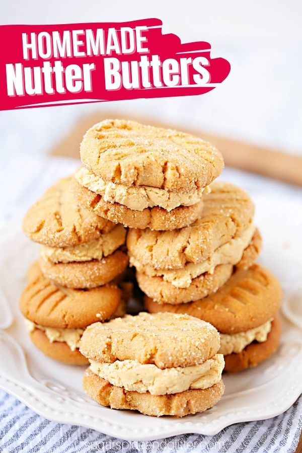 How to make homemade nutter butters from scratch. These peanut butter sandwich cookies taste even better than the original, with buttery, tender cookies and a rich, peanut butter frosting filling.