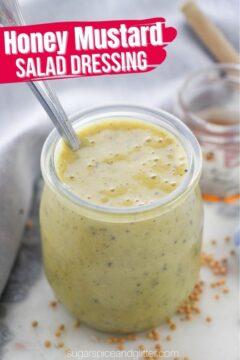 Honey Mustard Salad Dressing (with Video)