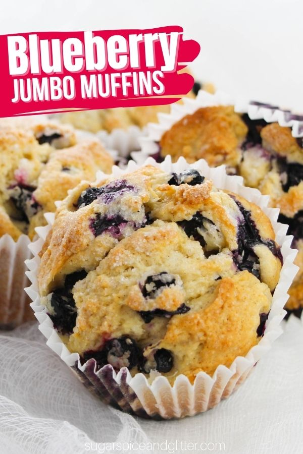 These scrumptious jumbo lemon blueberry muffins use maple syrup and white sugar to achieve a dimensional sweetness that is satisfying without being cupcake-like. The combination of buttermilk, lemon zest and cinnamon with the blueberries balances out the sweetness with tang and warmth, making every last bite completely irresistible.