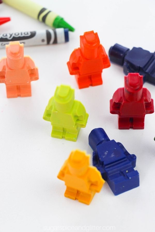 Lego Man Crayons
