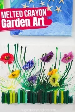 Flower Melted Crayon Art (with Video)