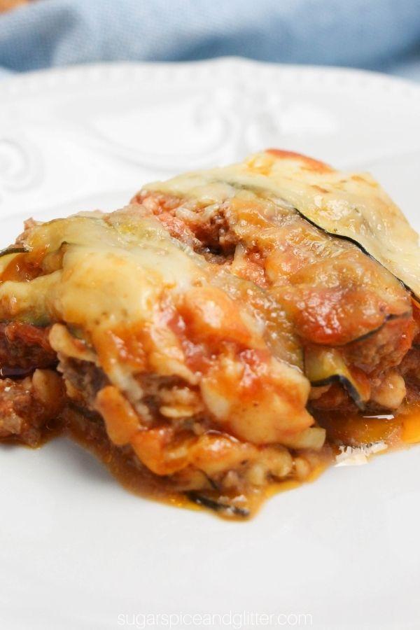 Zucchini Noodle Lasagna
