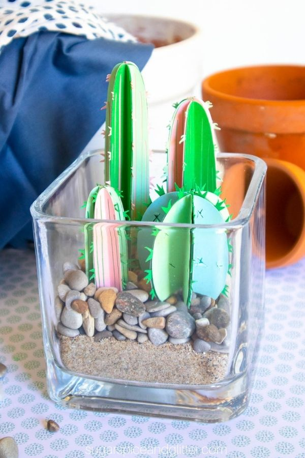 Cactus Cricut Terrarium with SVG