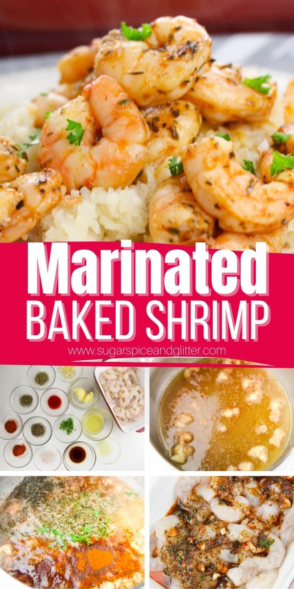 The best recipe for easy, marinated shrimp with the perfect amount of kick. This easy shrimp appetizer recipe can be baked or grilled and comes together in less than 10 minutes. Make and refrigerate the day before for best flavor.