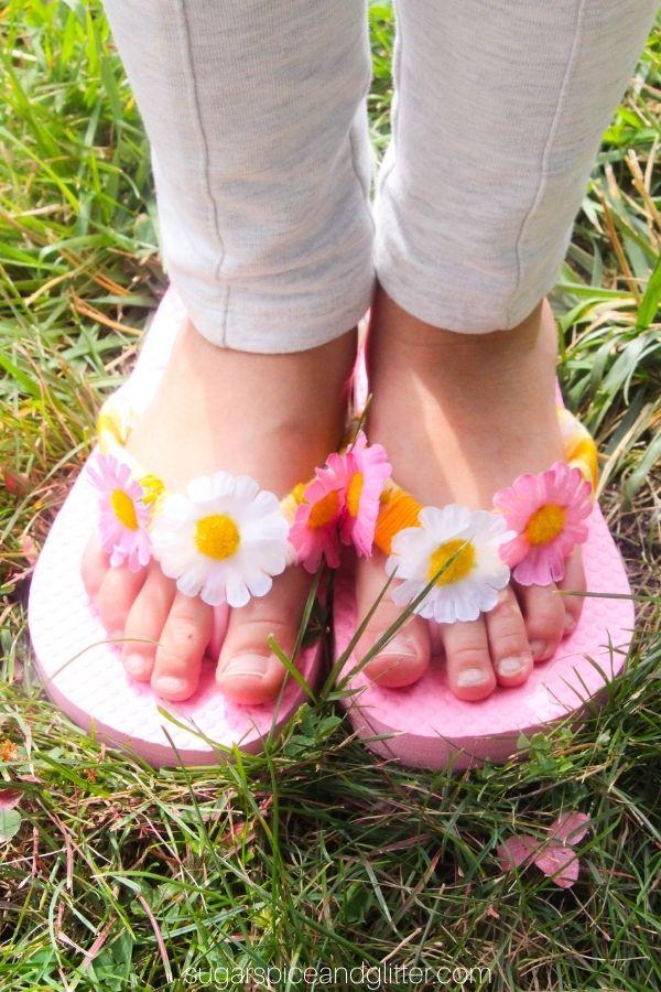 DIY Rapunzel Flip Flops
