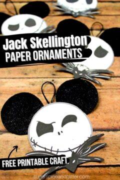 Printable Jack Skellington Ornaments