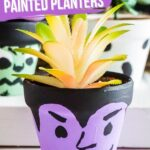 Painted Halloween Plant Pots