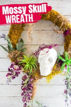 Halloween Moss Wreath