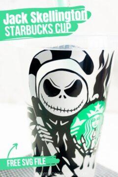 Nightmare Before Christmas Coffee Cup Cricut Craft